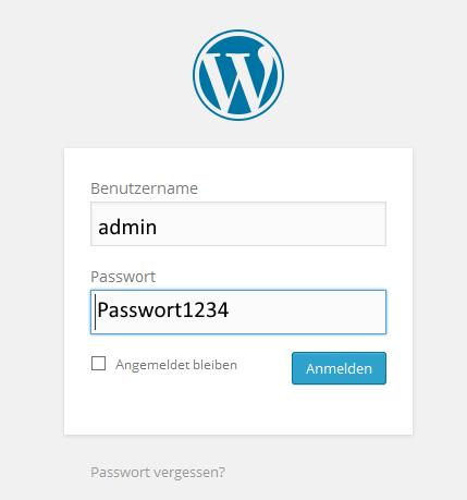 Anmeldemaske WordPress - unsicher