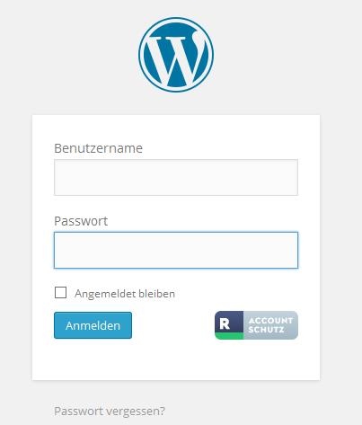 Anmeldung WordPress mit Rublon