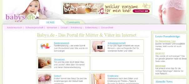 Screenshot babys.de