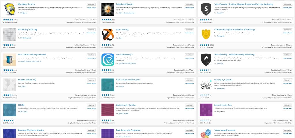 Symbolbild WordPress Sicherheits-Plugins