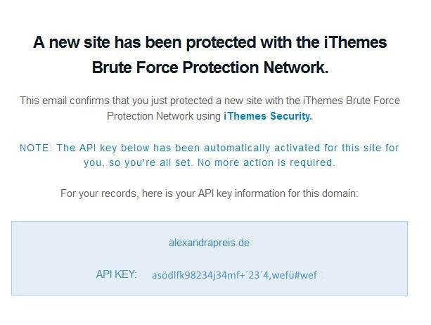 iThemes Security API Key
