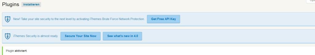 iThemes Security Schritt 1