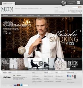 Screenshot der Seite www.meinsmoking.de